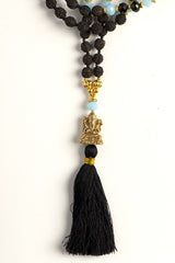 Mala Ganesh with Turqoise Bead & Black Tassel - Walker&Wade  - 2