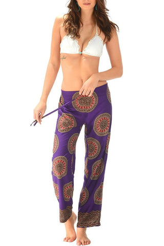 Beach Lounge Pants / Mandala Purple - Walker&Wade