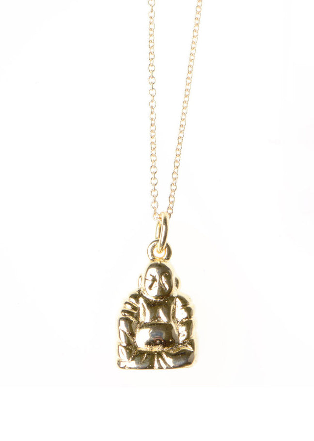 Buddha Necklace / Gold Plated