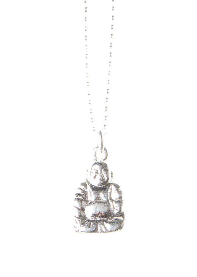 Buddha Necklace / Silver Plated