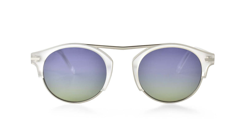 Bisous Sunglasses / The Rumrunner in Frosted Blue