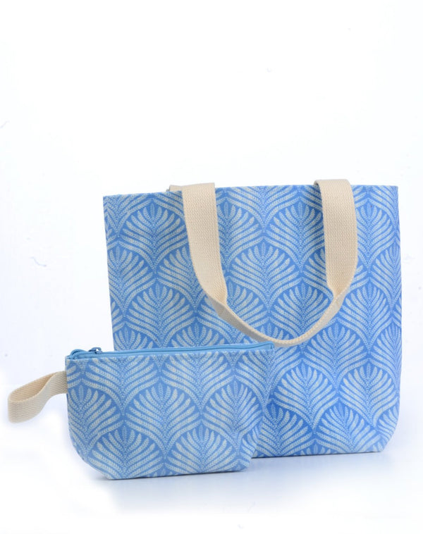 Everyday Tote / Periwinkle Palm