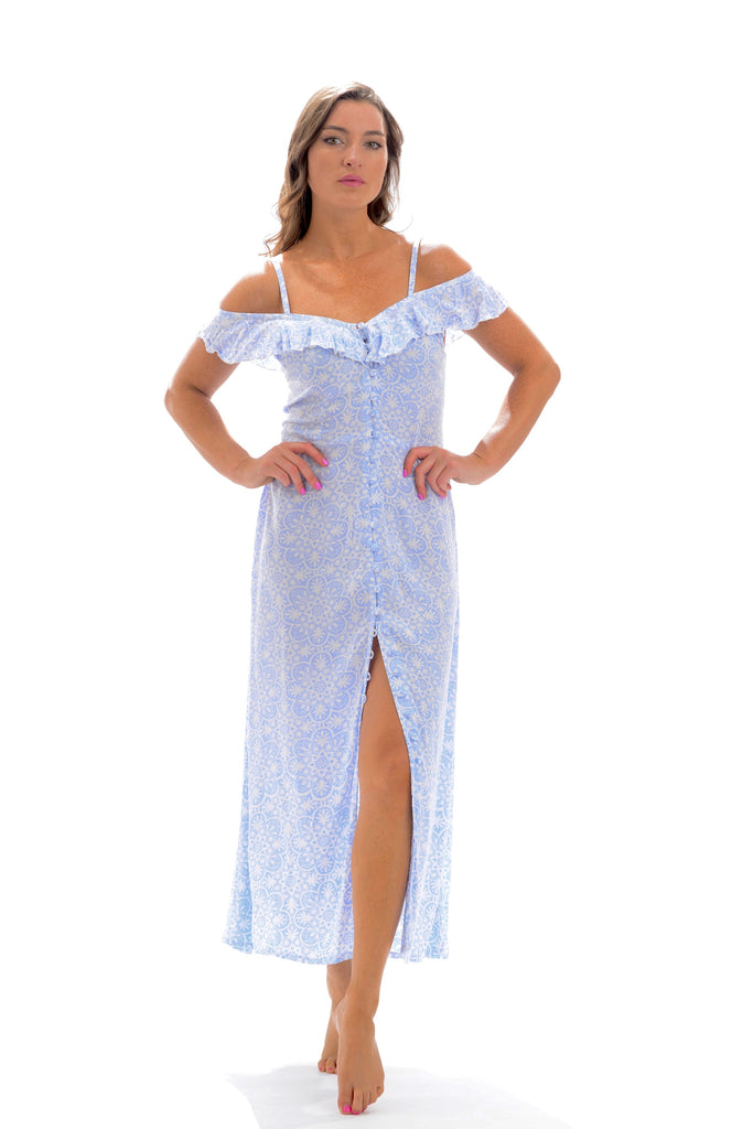Carly Dress / Periwinkle Medallion