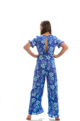 Mozambique Jumpsuit / Ocean Blue