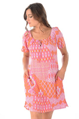 Shannon Dress / Flamingo