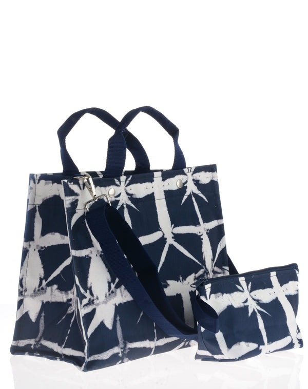 City Tote / Navy Brushstroke