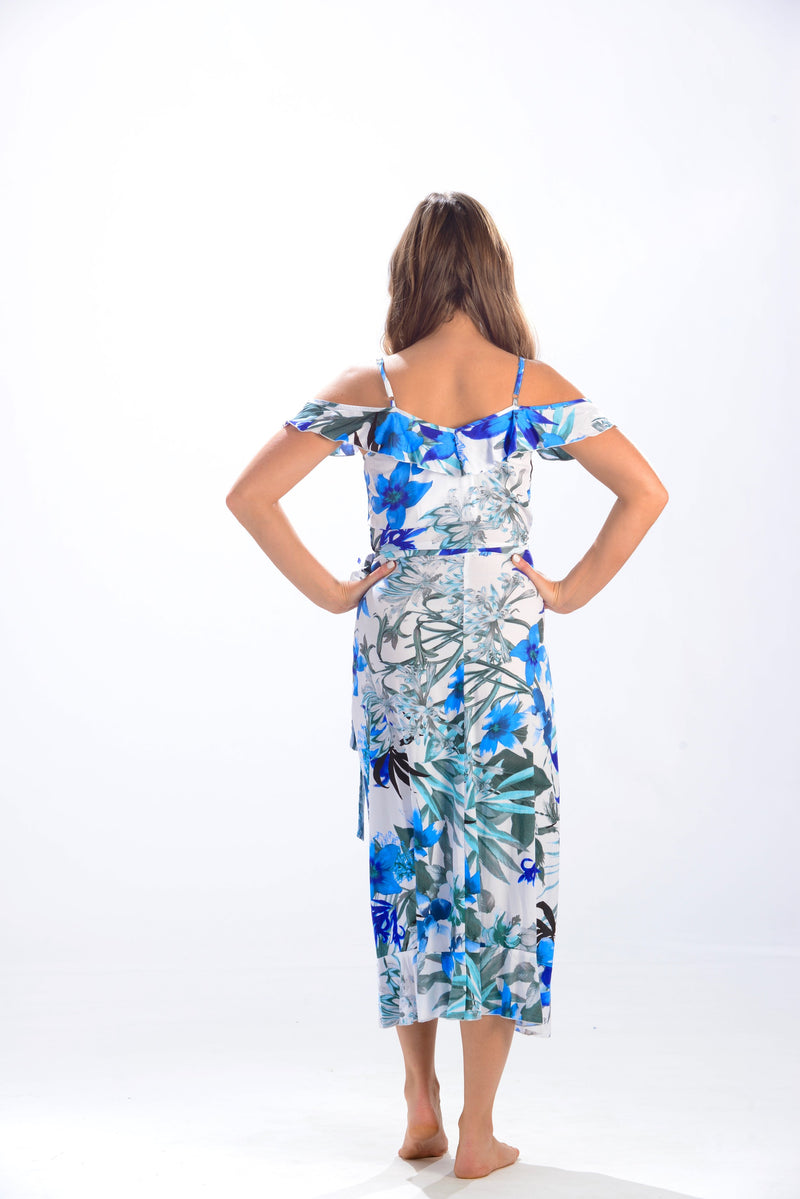 Blue Lagoon Dress / Blue Tropical