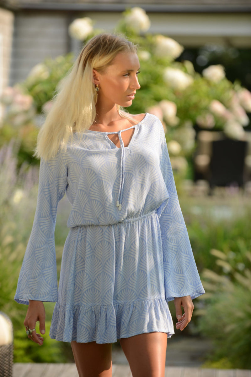 Za Dress / Periwinkle Palm