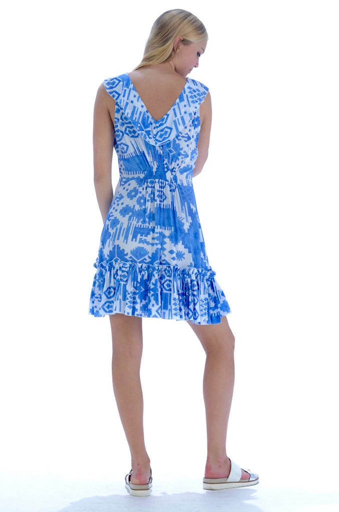 Jessie Dress / Periwinkle Ikat