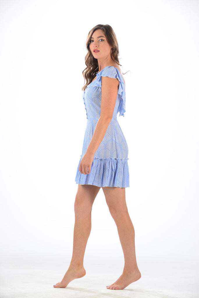 Jessie Dress / Periwinkle Palm