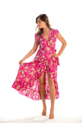 Voyager Dress / Hot Pink Floral