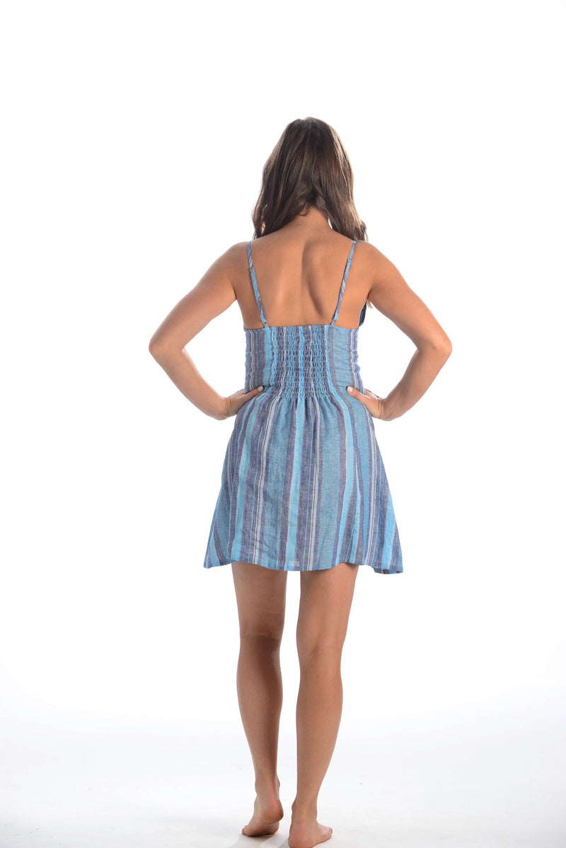 South Beach Dress / Aqua Stripe