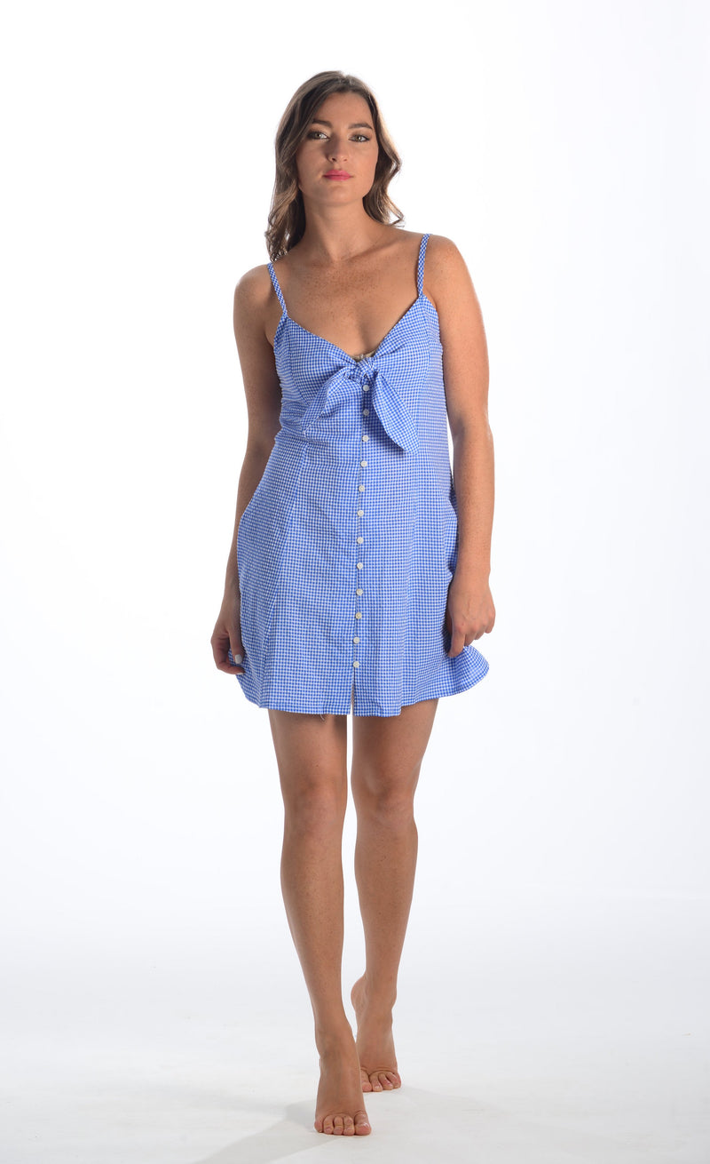 South Beach Dress / Blue Check