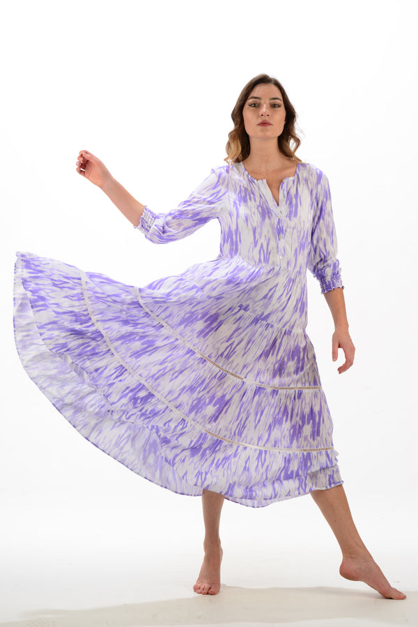 Delilah Dress / Lavender Tie-dye
