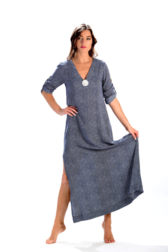 Seychelles Dress-Kaftan / Deep Indigo