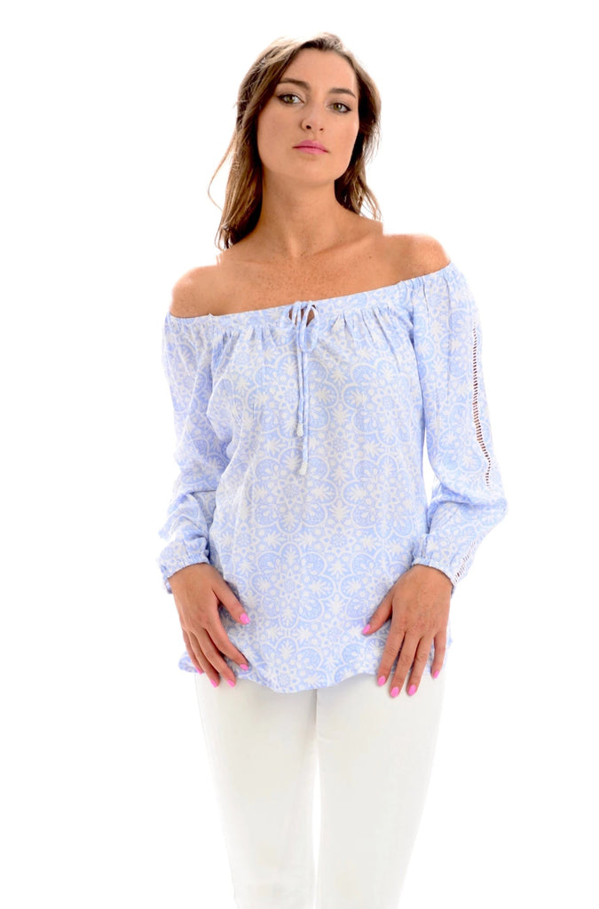 Peasant Top / Periwinkle Medallion