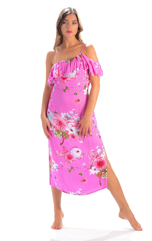 Alyssa Dress / Hot Pink Floral