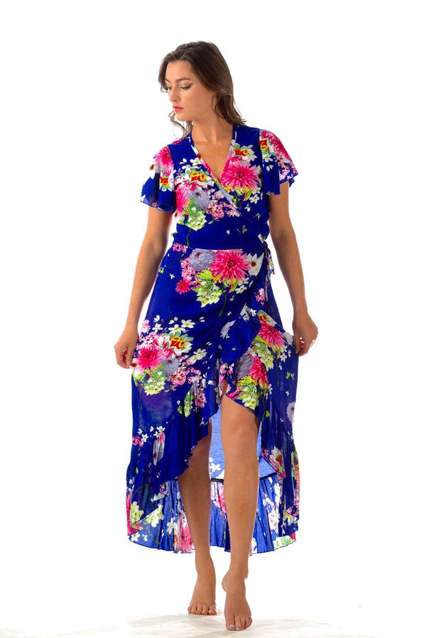 Provence Dress / Cobalt Floral