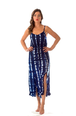 Hippie Dress / Navy Tie-Dye