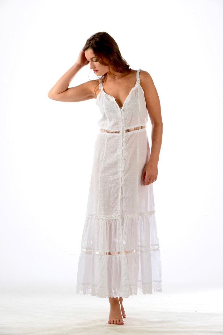 Midsummer Dress / White