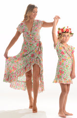 Kid's Voyager Dress / White Rose