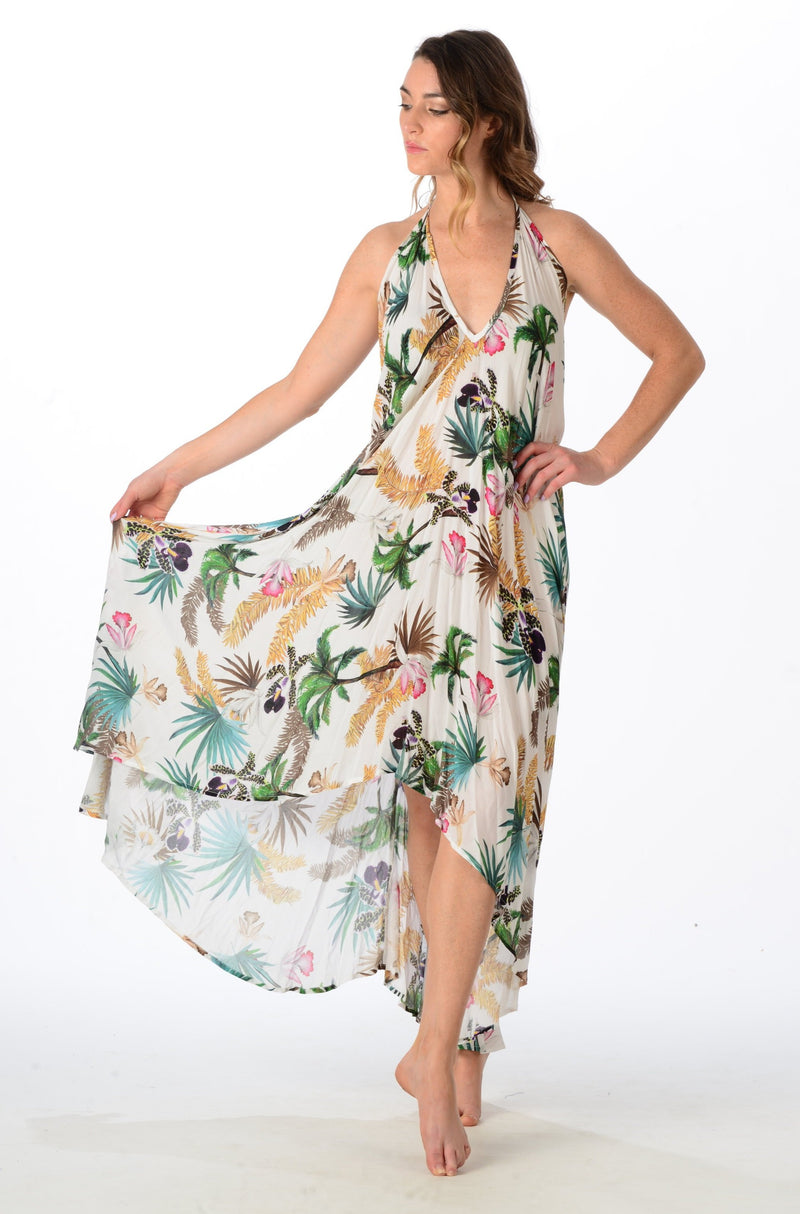 Paradise Dress / White Orchid