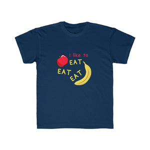 Kids Regular Fit Tee: apples and bananas