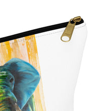 Load image into Gallery viewer, Accessory Pouch w T-bottom: elephant