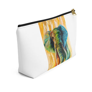 Accessory Pouch w T-bottom: elephant