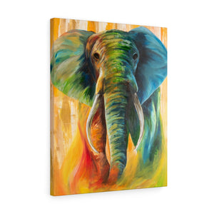Stretched canvas: elephant