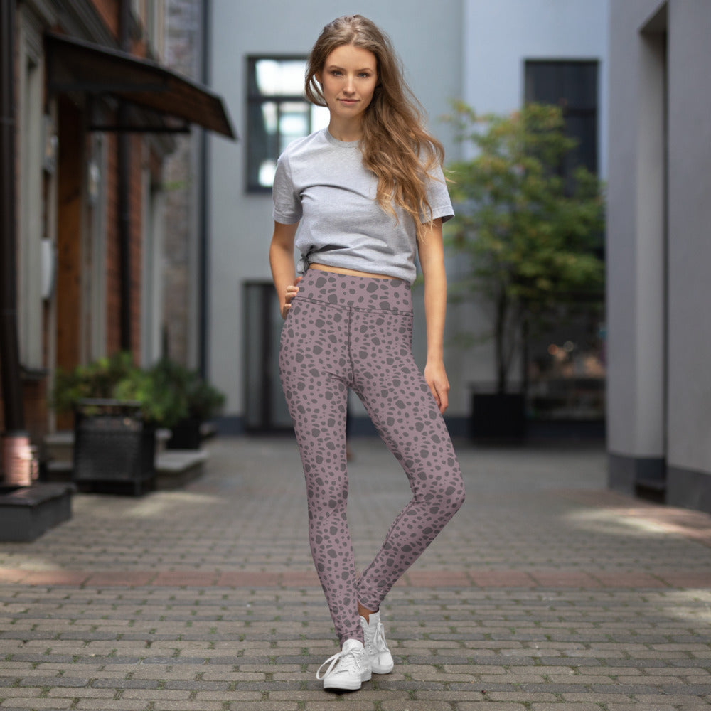 Mauve cheetah Yoga Leggings