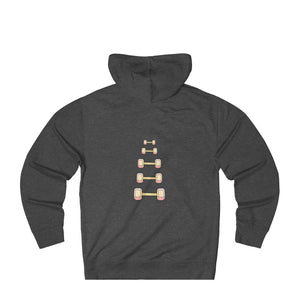Unisex French Terry Hoodie: dumbbell progression