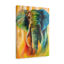 Load image into Gallery viewer, Stretched canvas: elephant