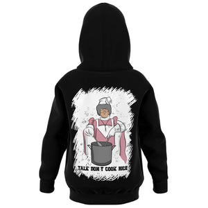 Talk Don't Cook Rice Kids Hoodie