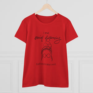 Women's Heavy Cotton Tee: social distancing