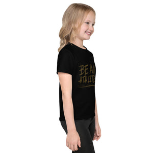 Kids T-Shirt: be an athlete brown