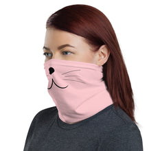 Load image into Gallery viewer, Neck Gaiter: pink cat