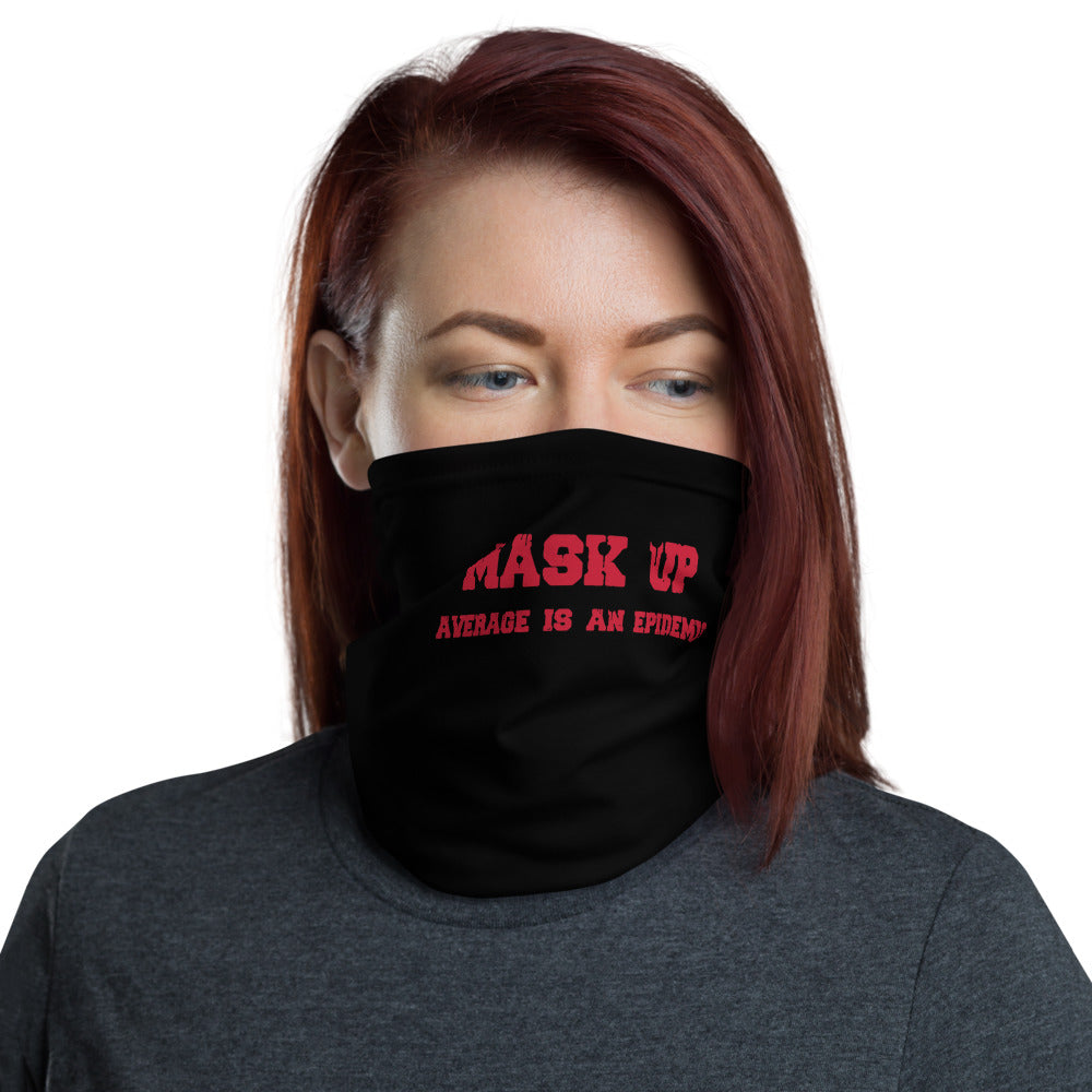 Neck Gaiter: mask up red