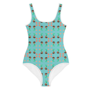 All-Over Print Youth Swimsuit: mermaid