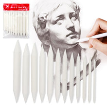 Load image into Gallery viewer, 3/6/8/12 Pcs Double Head Durable Art Drawing Tool Pastel New Blending Smudge Tortillon Material Escolar Sketching Paper Pencil
