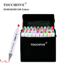 Load image into Gallery viewer, TouchFIVE 30/40/60/80/168 Color Markers Set Manga Drawing Markers Pen Alcohol Based Sketch Felt-Tip Twin Brush Pen Art Supplies