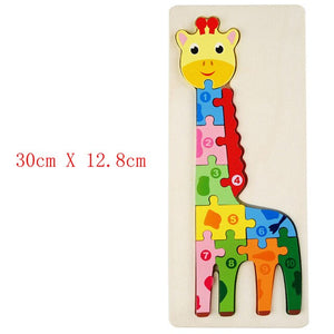 Wooden 3D Puzzle Jigsaw for Children Baby Cartoon Animal/Traffic Puzzles Educational Toy Kids Toy Gifts for boys and girls