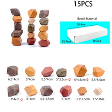 Load image into Gallery viewer, Children's Wooden Colored Stone Jenga Building Block Educational Toy Creative Nordic Style Stacking Game Rainbow Wooden Toy Gift