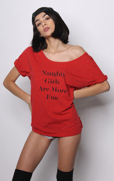 Naughty Girls Are More Fun Tee - Vayne Lifestyle  - 1