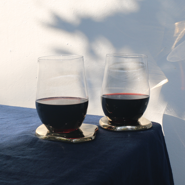 Organic Hand Blown Red Wine Glasses - Pair