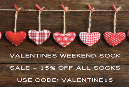 Valentine Weekend Sock Sale