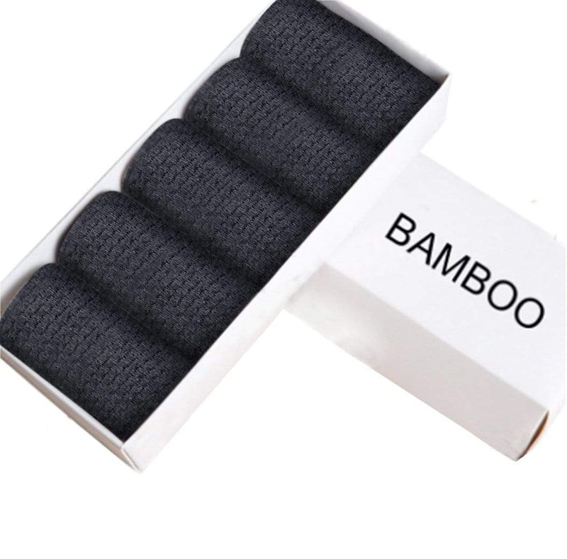 Healthy Sock Shop Bamboo Socks Bamboo Fiber Socks Black, Soft & Comfortable 5 x Pair