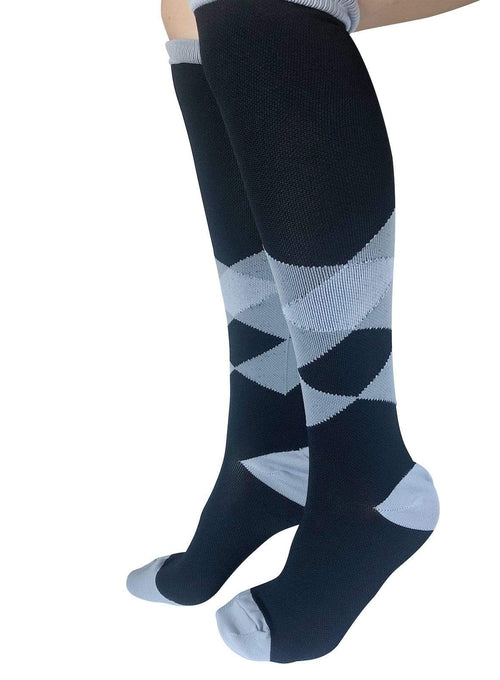 Healthy Sock Shop Compression Socks Compression Socks - Black & Grey