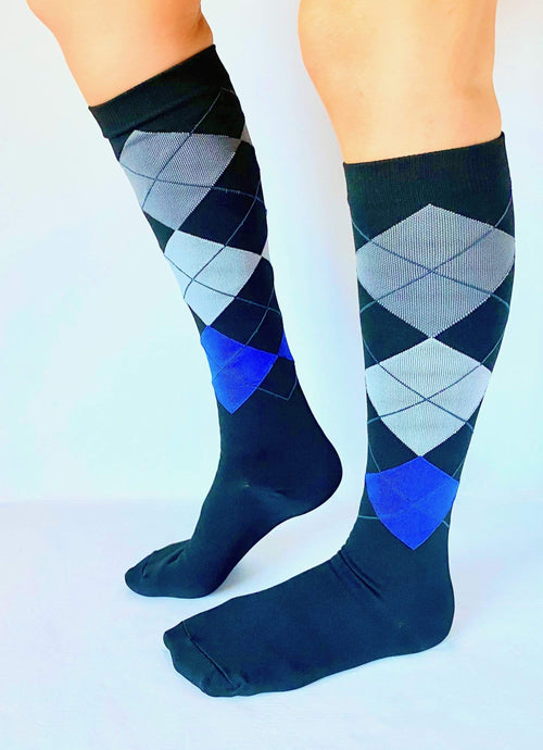 Healthy Sock Shop Compression Socks Compression Socks - Black & Grey Diamond