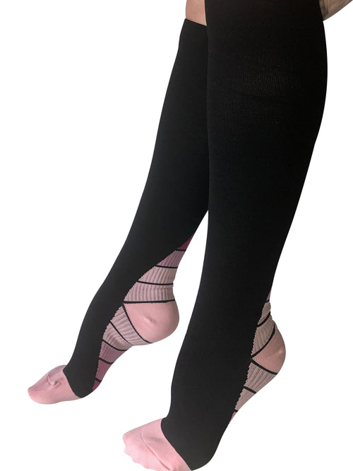 Healthy Sock Shop Compression Socks Compression Socks - Black & Pink